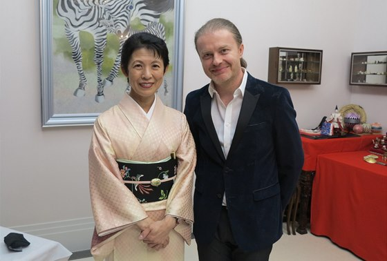 Pavel Šporcl s japonskou princeznou Takamado