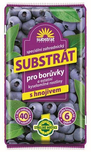 substrát na borůvky s hnojivem