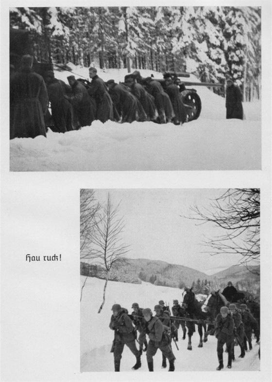 Kde selže technika, musí nastoupit lidská síla. Nakonec trocha tréninku pro některou příští zimu na východní frontě není na škodu.