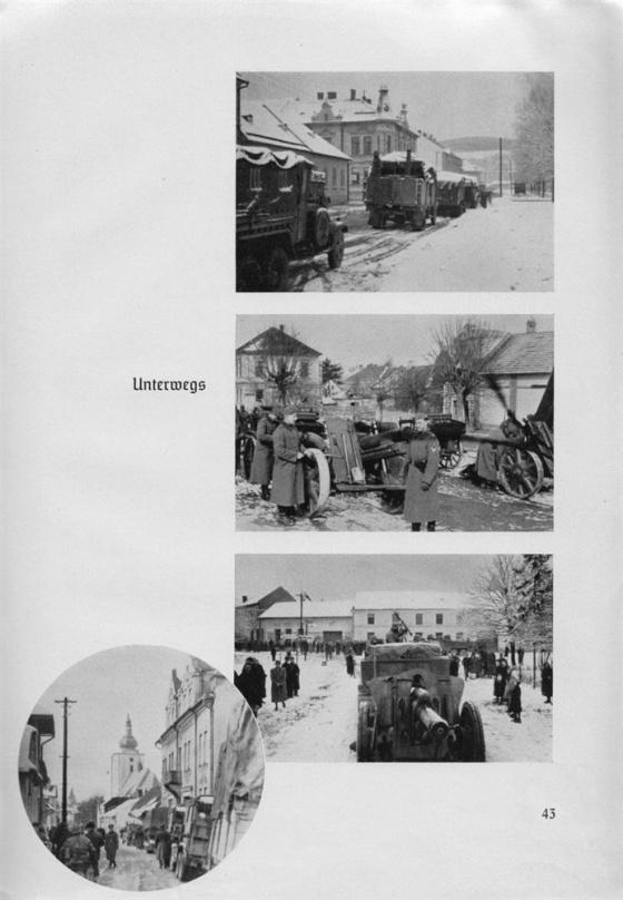 Němci obsazují první větší města v Protektorátu. Zatímco na území sudetské župy byly projíždějící německé jednotky vítány sudetoněmeckým obyvatelstvem s vlaječkami s hákovým křížem, zde na čs. území je přivítání chladné jako tehdejší březnové počasí.