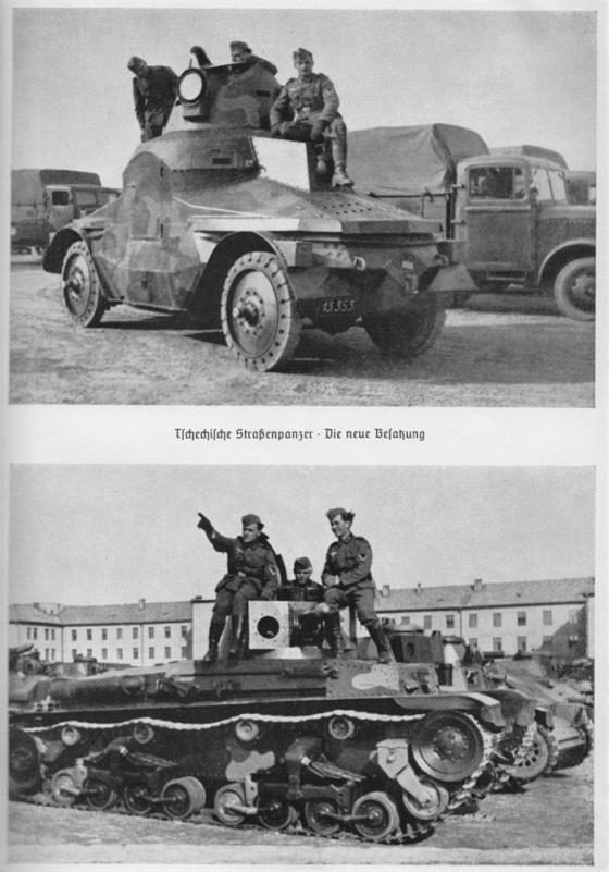 Velké pozornosti se dočkala i čs. obrněná technika, jak obrněné vozy, tak i lehké tanky vz. 35, které tvořily páteř čs. tankových jednotek. Ačkoliv se k této technice němečtí vojáci vyjadřovali ve svých vzpomínkách spíše skepticky, naše tanky Němcům ještě dobře poslouží. Bohužel.