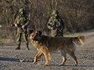Ruští vojáci na Krymu (12. března 2014)