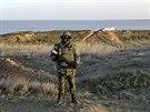 Ruský voják na Krymu (12. března 2014)