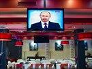 Vystoupen� Vladimira Putina bedliv� sledovali i obyvatel� Krymu (18. b�ezna...