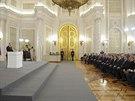 Vladimir Putin b�hem projevu o minulosti a budoucnosti Krymu (18. b�ezna 2014)
