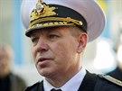 Vrchní velitel ukrajinské černomořské flotily viceadmirál Serhij Hajduk na...