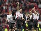 VYSMÁTÝ STŘELEC. Luis Suárez zakončil vítězství Liverpoolu na hřišti