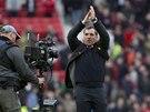 DÍKY. Kouč Liverpoolu Brendan Rodgers po vítězném zápase na Manchesteru United.