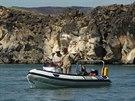 Na jezeře Turkana s majitelem lodi Andrewem