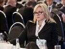 Listopad 2012: Jana Nagyová ještě jako šéfka Nečasova kabinetu na kongresu ODS...