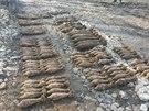Nevybuchlé munice z 2. světové války sovětské a německé výroby bylo nalezeno...