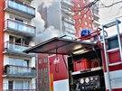 Požár v panelovém bytě v Prušánecké ulici v Brně zaměstnal zásahové složky....