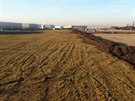 Ještě na začátku ledna byl pozemek zatravněný. Obyvatelé z okolí průmyslové...