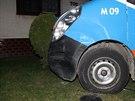 Srážka dodávky a osobního auta v Mutěnicích na Hodonínsku (úterý 18. března...