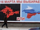 Billboardy v Sevastopolu l�kaj� na ned�ln� referendum o odtr�en� od Ukrajiny a...