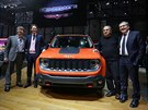 Mike Manley (šéf Jeepu), John Elkann (prezident Fiatu), Sergio Marchionne a Alfredo Altavilla (šéf koncernu pro Evropu a střední východ a Marchionneho pravá ruka) letos na autosalonu v Ženevě