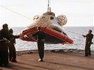 Na Zem se odbojn� kosmonauti vr�tili v �noru 1974.