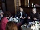 Michail Chodorkovskij v diskusi s p�edstaviteli Polytechnick�ho institutu v...
