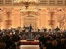Součástí oslavy roku od Zemanovy inaugurace byl i koncert Hudby Hradní stráže...