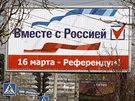 V Simreropolu se objevily dal�� billboardy p�ed referendem, kter� se na Krymu...