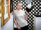 Magdaléna Zemanová, majitelka obchodu s gramofonovými deskami Happyfeet v