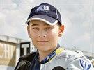 Mladý Karel Abraham na Masarykově okruhu v Brně (2004)
