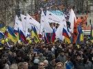 P�ed 10 tis�c lid� demonstrovalo v centru Moskvy proti postupu Ruska b�hem