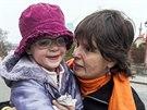 Pavla Kovaříková s dcerou
