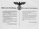 Vrchní velitel německé armády generálplukovník von Brauchitsch vydal také německo-české provolání k obyvatelstvu Protektorátu.