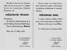 Své vyhlášky začali hned vydávat i velitelé jednotlivých armádních skupinových velitelství. Tato je např. od generála von Lista, jehož vojska obsazovala jižní Moravu.