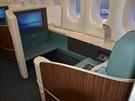 Uvnitř Airbusu A380 Korean Airlines registrace HL7614 na ruzyňském letišti...