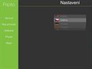 Aplikace Fripito, nastavení jazyka.