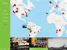 Aplikace Fripito, základní mapa s fototrasami.