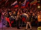 Oslavy v�sledk� krymsk�ho referenda v Simferopolu.