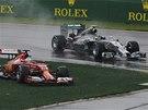 KVALIFIKAČNÍ PERIPETIE. Nico Rosberg si v Mercedesu jede v australském Albert