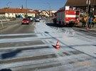 Převržený sud způsobil šedivou křižovatku v Litomyšli