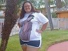 Bryanna Debinderová vážila 120 kilogramů.
