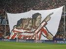 TOHLE CHCEME VIDĚT. Fanoušci Atlétika Madrid roztáhli během osmifinále Ligy...