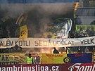 Jihlavští fanoušci v zápase s Teplicemi.