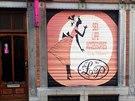 Prodejna sexuálních pomůcek v retro stylu v Bruselu.