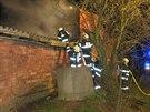 Požár kůlny poškodil na Prostějovsku i tři bryčky, které byly uvnitř...