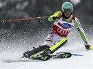 Felix Neureuther na svahu v Lenzerheide při slalomu Světového poháru.