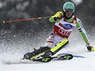 Felix Neureuther na svahu v Lenzerheide p�i slalomu Sv�tov�ho poh�ru.