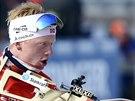 Johannes Bö během závodu SP biatlonistů v Kontiolahti.