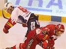 Momentka z duelu Pardubice - Slavia
