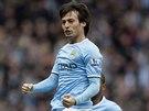 OSLAVA. David Silva z Manchesteru City si užívá trefu v utkání proti Hullu.