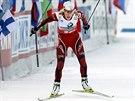 Tora Bergerová během sprintu ve finském Kontiolahti