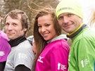 Dalibor Gondík se připojil k běžeckému závodu, nechyběla ani Inna Puhajková.