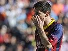 TRÁPENÍ. Lionel Messi měl proti Valladolidu několik šancí, ale většinou mířil...