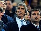 POTRESTANÝ. Manuel Pellegrini, kouč Manchesteru City, musel sledovat zápas v